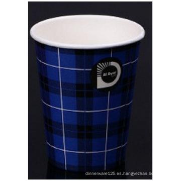 Taza de papel desechable, taza de café corrugada, tazas de papel doble