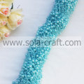 Blue Like Lake Color Faux Pearl Link Beaded Garland With 3+8MM Beads