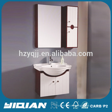 PVC que afeita el almacenaje impermeable montado en la pared pequeños tocadores reflejados del baño