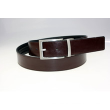 Fashion reversible buckle smooth genuine leather belt man belt
