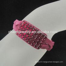 Hot sale Korea style velvet Wrap bracelet BCR-012-5