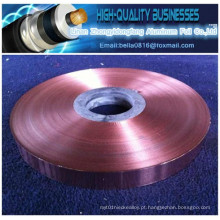 Folha de cobre Laminate Polyester Film Cu Pet fita para cabo coaxial