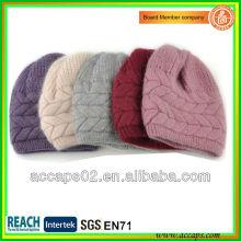 Alto diseño llano gorrita tejida sombreros en China BN-2011