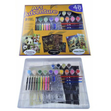 Diy enfants aquarelle couleur numéro de peinture kit