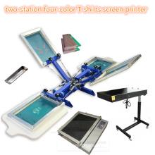 TM-R4k 2-Station Máquina de impresión de pantalla textil de 4 colores