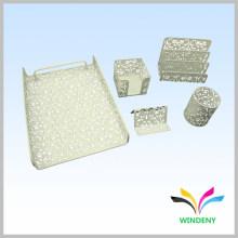 Articles de bureau en métal 5 pièces en papier blanc bureau