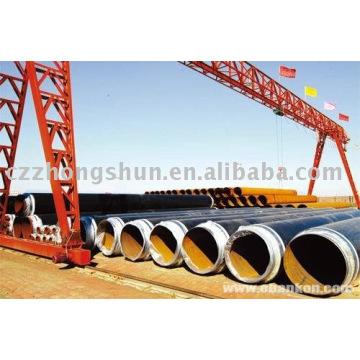 Tuyau en acier 3PE / tube q235a / q235b erw Fabricant de tuyaux en acier PE