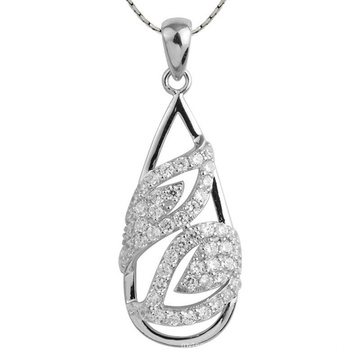 Hot Selling 925 Sterling Silver Drop Pendants Necklace