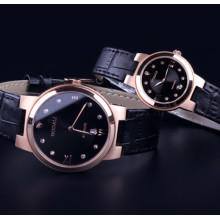 Couple Sapphire Quartz Watches Genuine Leather Watch