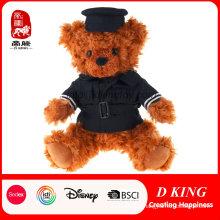 Handmade Promotional Gift Toy Plush Stuffed Teddy Bear in Uniform