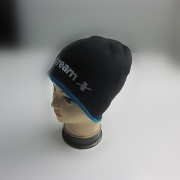 Men Print Stripe Knitted Hat