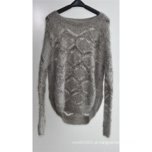 Senhoras Inverno Fancy Fios Knit Pullover Sweater