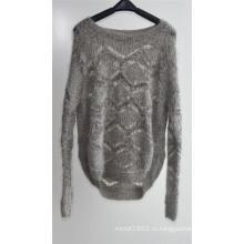 Женская зимняя фантазийная трикотажная свитера с пуловером