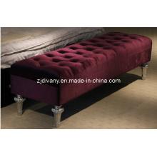 Estilo poste-moderno tela cama taburete taburete de ocio (LS-118)