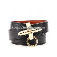 Leather Wrap-Around Bracelet KSKS-39