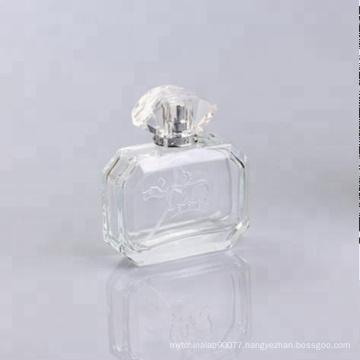 new square shape glass bottle perfume 100ml