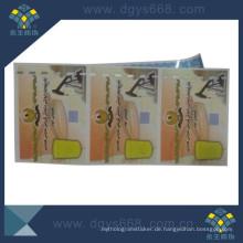 Lottery Security Scratch Card mit Thread Line Custom Design
