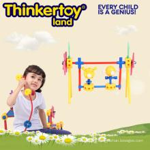 Поставка школьных образовательных пластиковых строительных блоков для комнатных игрушек