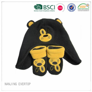 Black Beer Soft Touch Hat And Gloves Set
