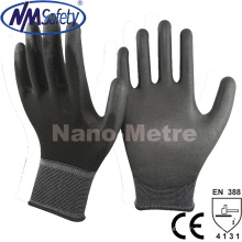 Nmsafety Schwarz PU Palm Coated Top Fit Hand Handschuh