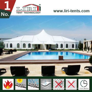 Tente de structure mixte de 20 m avec de grandes tentes de toit en hauteur pour le mariage de fête
