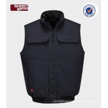OEM Warm Winter Sleeveless Hoodie Vest For Workwear