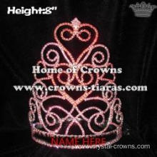 Red Heart Shaped Valentine Pageant Crowns