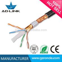 Câble de réseau extérieur cat6 de câble de réseau Cat6 à faible débit de 0,57 mm CU / CCA / CCS 23450