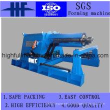 Decoiler hidráulico que dá forma à máquina