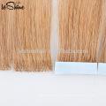 Выдвижение человеческих волос Remy нарисованные двойником полный кутикулы класс русские волосы ленты наращивание волос