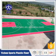 Baldosas suspendidas para exteriores para badminton / basketball / tennis court