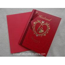 Oro que estampa el papel Tarjetas de felicitación que casan la tarjeta de la invitación con el
