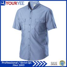Venta al por mayor de camisas de trabajo mecánico de manga corta Workwear (YWS112)
