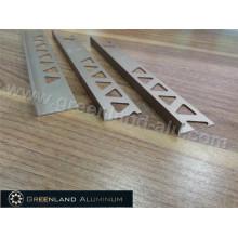 Matt Gold L Forma Tile Trim para 8mm, 10mm, 12mm telha