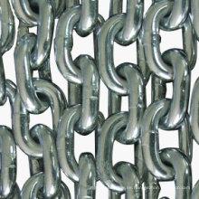 Cadena de enlace corta galvanizada de metal