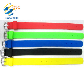 hot sales adjustable punch silicone wristband