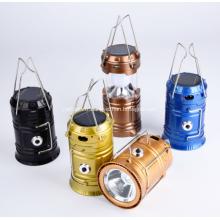 Lampe de camping rechargeable d'urgence solaire à LED