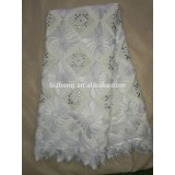 White Nigeria lace swiss lace fabric