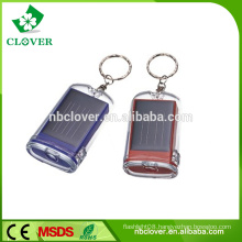 CE and RoHS available 2 LED plastic mini solar led keychain