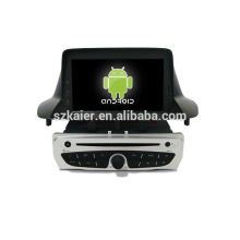 6.0 Reproductor de DVD del coche Android System para 2014 Renault Megane con GPS, Bluetooth, 3G, iPod, juegos, zona dual, control del volante