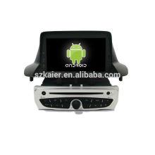 6,0 sistema Android dvd player para 2014 Renault Megane com GPS, Bluetooth, 3G, ipod, jogos, zona dupla, controle de volante