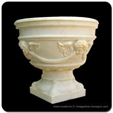 Grands pots de fleurs en plein air marbre pot de fleurs en pierre à vendre