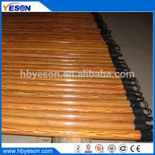 22mm x 120cm hogar trabajo pvc recubierto de madera escoba mango palo