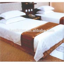 100% algodão Hotel Bed Sheet tecido de renda de cetim, conjunto de cama de hotel