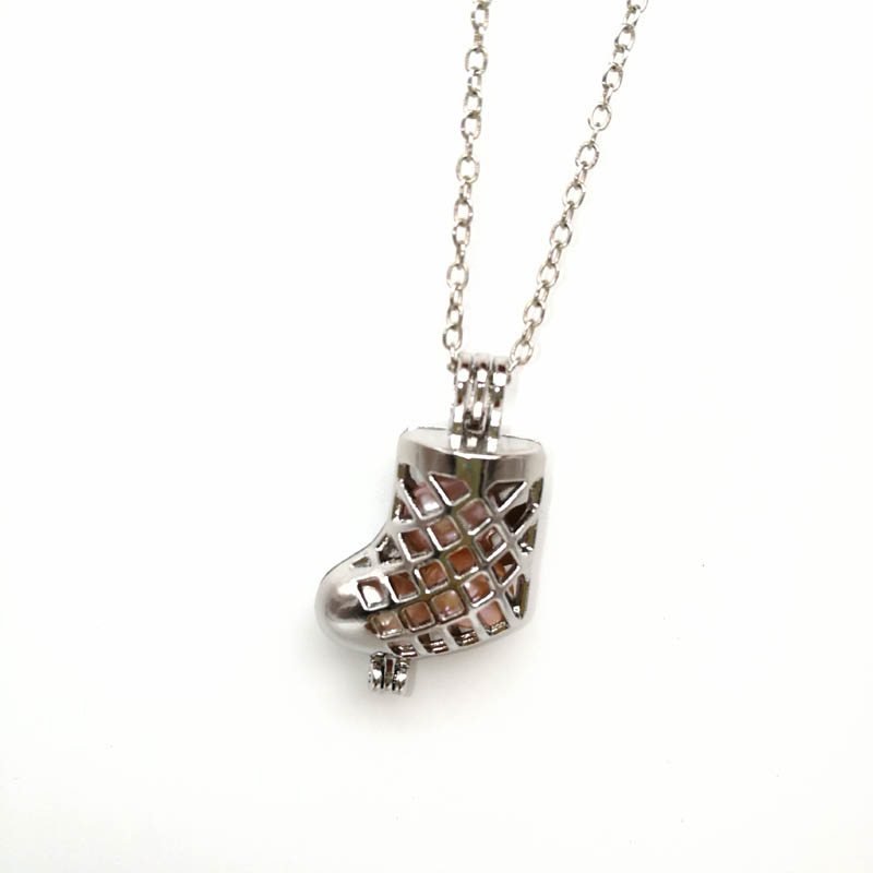 Pearl Cage Boot Pendant Jewelry