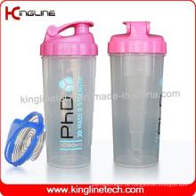 700ml Plastik-Protein-Shaker-Flasche mit Edelstahl-Mixer (KL-7007)