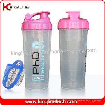 700 мл Пластиковая бутылка для протеинов с блендером из нержавеющей стали (KL-7007)