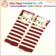High quality comfortable stripe crochet leggings baby
