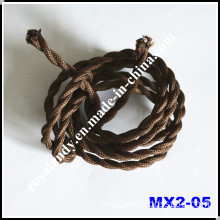 Gray 3-Conductor Fabric Textile Cable for Vintage Lighting (MX2-05)