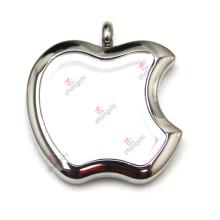 Precio de fábrica barato pendiente del medallón de Apple del acero inoxidable